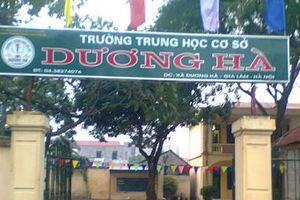 Duyệt chỉ giới đường đỏ tuyến qua cổng trường mầm non, THCS Dương Hà tại huyện Gia Lâm