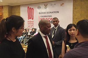 Hiến máu nhân đạo hưởng ứng ngày Quốc tế Nelson Mandela