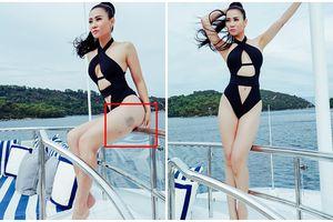 Lâu lắm rồi mới thấy Thu Minh diện bikini cực sexy nhưng lại để lộ vết bầm tím khó hiểu ở đùi