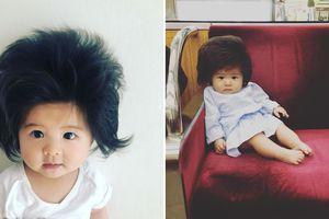 Bé gái 6 tháng tuổi đã có bộ tóc dày bồng bềnh đốn tim hàng chục ngàn cư dân mạng