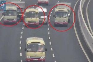 Xe khách dàn hàng ngang trên cao tốc Hà Nội - Hải Phòng