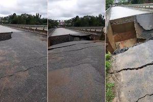Clip: Kinh hoàng khoảnh khắc mưa lũ cuốn sập cầu ở Phú Thọ