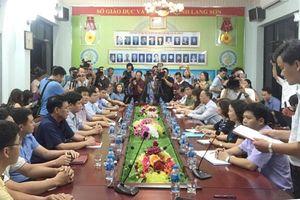 Họp báo công bố kết luận vụ điểm thi THPT quốc gia bất thường ở Lạng Sơn