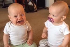 Cười nghiêng ngả với màn giành núm vú giả siêu dễ thương của hai anh em sinh đôi