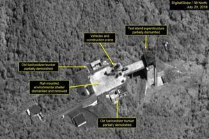 Triều Tiên bắt đầu phá hủy một bãi thử tên lửa