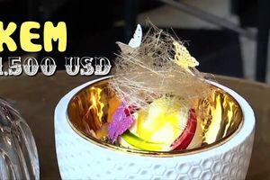 Choáng với kem Sundae phủ vàng 1.500 USD