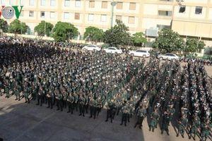 Lực lượng đặc nhiệm Campuchia diễn tập trước thềm bầu cử Quốc hội
