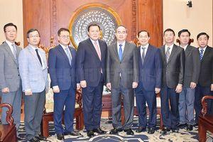 Bí thư Thành ủy TPHCM Nguyễn Thiện Nhân tiếp Phó Chủ tịch Tập đoàn Lotte
