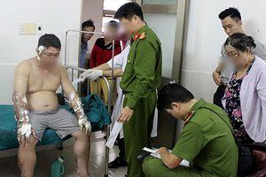 Bắt ma túy, cảnh sát Thái Bình bị xăng đang cháy đổ vào người gây bỏng nặng