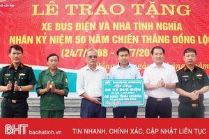 Viettel tặng 5 xe bus điện trị giá 1,4 tỷ cho BQL Khu du tích Ngã ba Đồng Lộc
