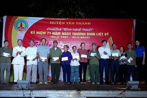 Huyện Yên Thành tổ chức lễ tri ân các anh hùng liệt sỹ