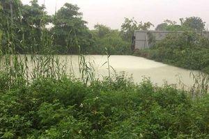Hoài Đức, Hà Nội: Bắt quả tang doanh nghiệp xả thải trái phép ra môi trường
