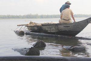 Tuồn gỗ xuống sông để phi tang