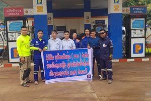 Petrolimex Lào hỗ trợ xăng dầu xe cứu hộ, cứu nạn vụ vỡ đập thủy điện