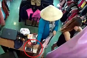 'Nữ khách' đội nón 'cuỗm' điện thoại trong nháy mắt