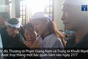 Rơi nước mắt lễ truy điệu 2 phi công hy sinh ở Nghệ An