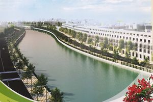 Cam kết hoàn thành đúng tiến độ một phần dự án chỉnh trang sông Tam Bạc