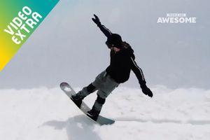 Những pha trượt ván điệu nghệ giữa bầu trời đầy tuyết