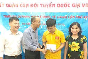 Trịnh Duy Hiếu đoạt Huy chương Bạc Olympic Vật lý Quốc tế năm 2018