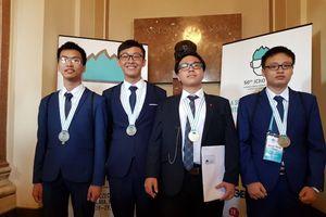 4 thí sinh Việt Nam tham dự Olympic Hóa học quốc tế năm 2018 đều giành huy chương