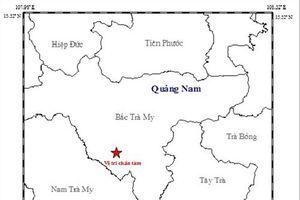 Động đất liên tiếp gần thủy điện Sông Tranh 2