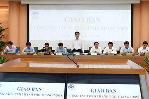 UBND TP Hà Nội giao ban công tác tháng 7-2018