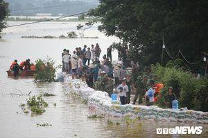 Chủ tịch UBND huyện Chương Mỹ, Hà Nội: Nước đang rút, đê sông Bùi an toàn