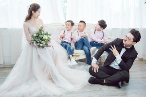Lâm Vỹ Dạ bất ngờ bật mí thành viên thứ 5 trong bộ ảnh kỉ niệm ngày cưới