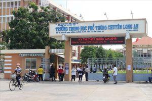 Ngày 1.8, nhiều trường học ở Long An 'tựu trường'