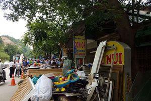 Thành phố Hòa Bình sơ tán dân khẩn cấp
