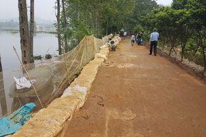 Nước trên sông Bùi rút chậm, ngập úng tiếp tục xảy ra ở một số vùng trũng