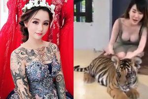 Clip cô dâu Đồng Nai trẻ đẹp xăm Doraemon đầy người, mỹ nữ siêu vòng 1 nghịch hổ