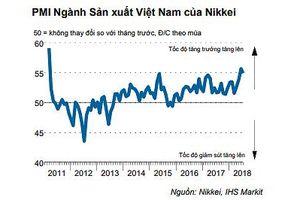 Nikkei: Chỉ số PMI Việt Nam tháng 7/2018 giảm nhẹ