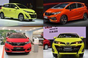Có 650 triệu đồng, nên mua Toyota Vios 2018 hay 'tân binh' Honda Jazz?