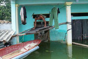 Nửa tháng sống chung với ngập lụt của người dân Chương Mỹ