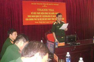 Thanh tra Bộ Quốc phòng làm việc tại BĐBP TT Huế