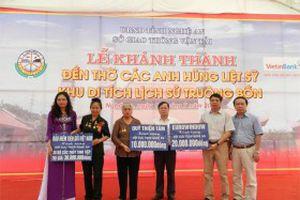 Khánh thành Đền thờ các anh hùng liệt sỹ Truông Bồn