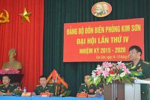 Đại hội điểm Đảng bộ Đồn BP Kim Sơn nhiệm kỳ 2015-2020