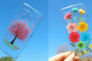 Ốp lưng điện thoại ép hoa thật đẹp mê hồn