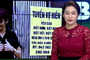 Hài hước người đàn ông treo biển tuyển vợ hiền ở Hà Nội