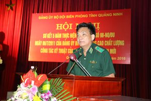 BĐBP Quảng Ninh sơ kết 5 năm thực hiện Nghị quyết số 98-NQ/ĐU của Đảng ủy BĐBP