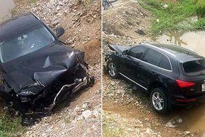 Cận cảnh Audi Q5 nát đầu sau cú húc đuôi xe tải