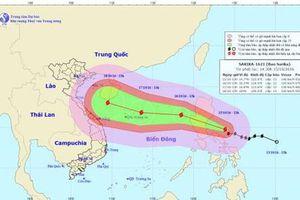 Bão Sarika tăng cấp độ gió giật tới cấp 17, tiến gần Biển Đông