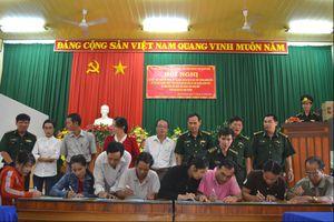Đồn BP Tam Quan Nam phối hợp triển khai thực hiện Chỉ thị số 01 của Thủ tướng Chính phủ