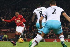 Ibrahimovic và Martial lập cú đúp, M.U vùi dập West Ham để vào bán kết Cúp LĐ