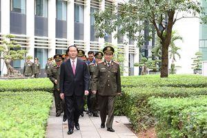 Phát biểu chỉ đạo Hội nghị Công an toàn quốc lần thứ 72, Chủ tịch nước Trần Đại Quang: - 'Xây dựng hình ảnh người chiến sỹ CA ngày càng đẹp trong mắt người dân và bạn bè quốc tế'