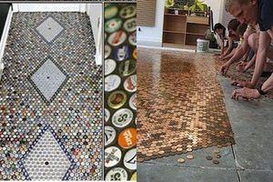 Lát sàn nhà từ những thứ dị nhất chưa từng thấy