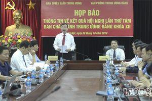 Kết quả chính thức Hội nghị lần thứ 8 Ban Chấp hành Trung ương Đảng