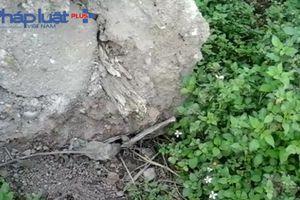 Hà Nội: Nghi án bê tông độn... gỗ trong công trình giao thông tại Gia Lâm