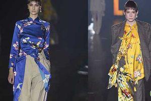 'Choáng'với áo dài Việt phối vest lên sàn diễn thế giới